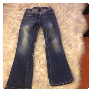 Blue and light skinny jeans